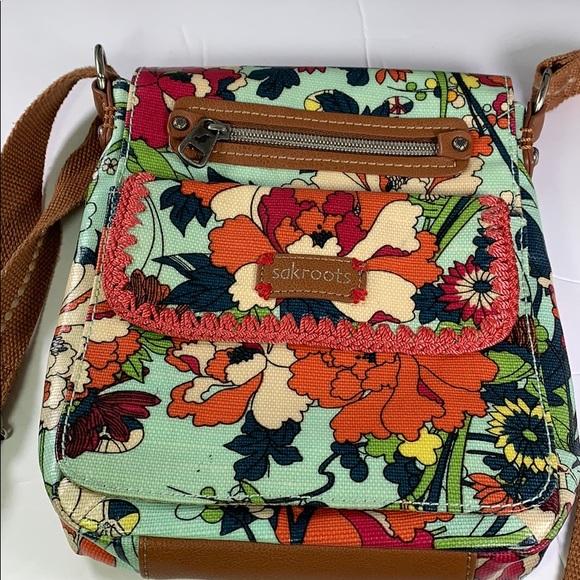 Sakroots Small Messenger Bag Multi//Red//Floral